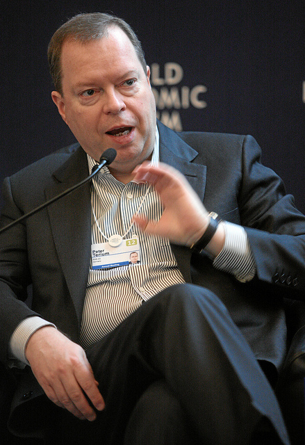 Peter Terium at the World Economic Forum in Davos by WEF