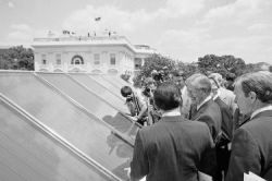 President Carter installs solar power at White House, 1979 (photo: AP/Harvey George)