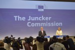 Jean-Claude Juncker and his spokeswoman, Natasha Bertaud (Credit: European Union, 2014)
