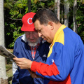 Hugo Chavez and Fidel Castro in better days (photo Globovision 2011)