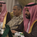 Saudi Arabia's Deputy Crown Prince and Minister of Defense Mohammed bin Salman (right) (photo Ash Carter)