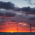 offshore wind farm off the Welsh coast (photo Aaron)