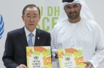Secretary-General Ban Ki-moon and Sultan Ahmed Al Jaber Climate Change Envoy of the UAE (photo UN)