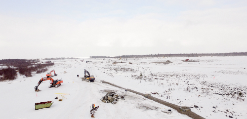 Construction is starting on the Hanhikivi site 25 Feb 2016 (photo Fennovoima)