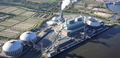Vattenfall's Moorburg power station in Hamburg
