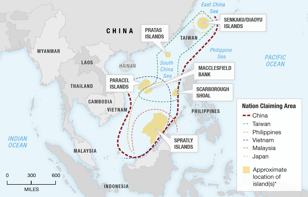 competing claims in South China Sea