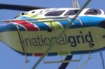 National Grid helicopter inspecting power lines