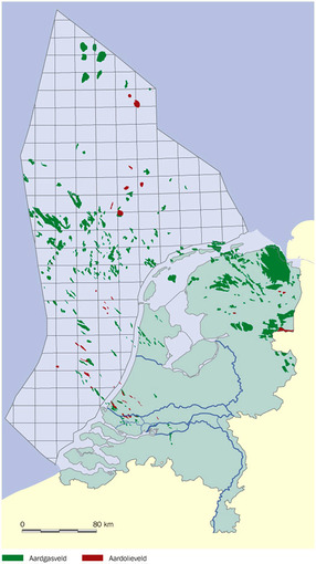 onshore and offshore gas fields in the Netherlands