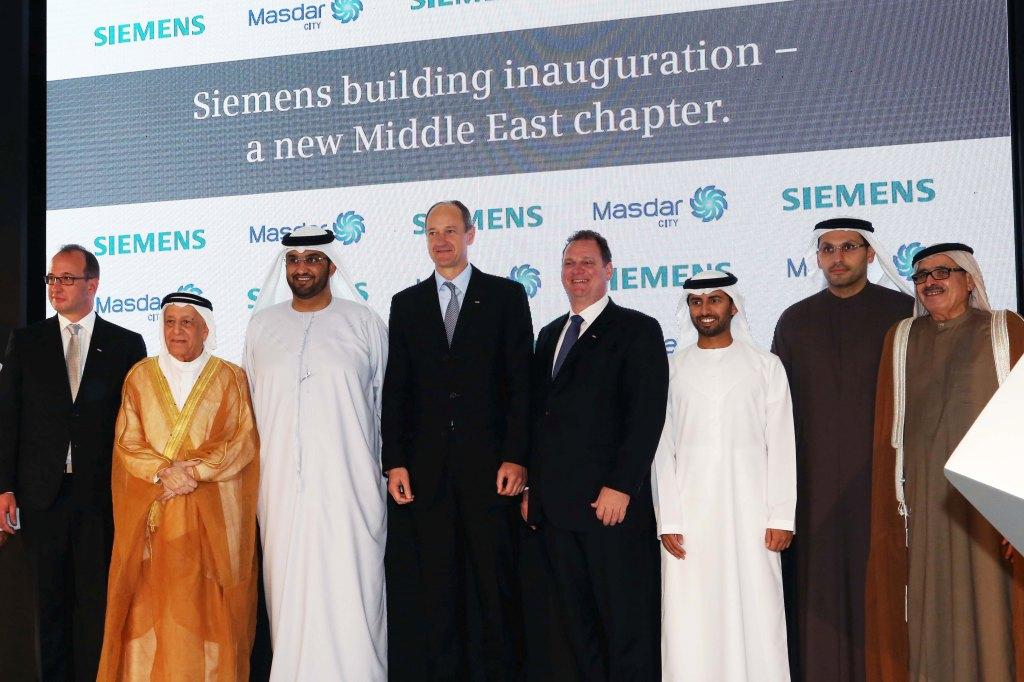 Opening Siemens building Masdar City