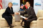 Professor Ye Qi and Hillary Clinton