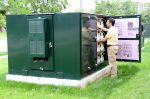 Community  energy storage containing 1700 lithium-ion battery cells (Photo: Green Energy Futures)
