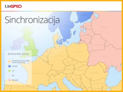 Synchronised zones in Europe