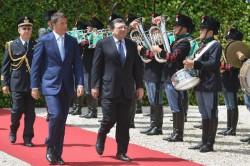Matteo Renzi and José Manuel Barroso at inauguration Italian EU Presidency (photo Europe by Satellite)