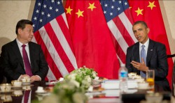 Chinese president Xi Jinping and US president Obama, March 2014 (photo US Embassy The Hague)