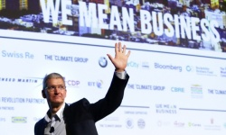 Apple CEO Tim Cook at launch of We Mean Business event Climate Week NYC 2014