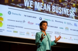 Christiana Figueres, Executive Secretary, UNFCCC at launch pf 'We Mean Business' at the Climate Week NYC 2014