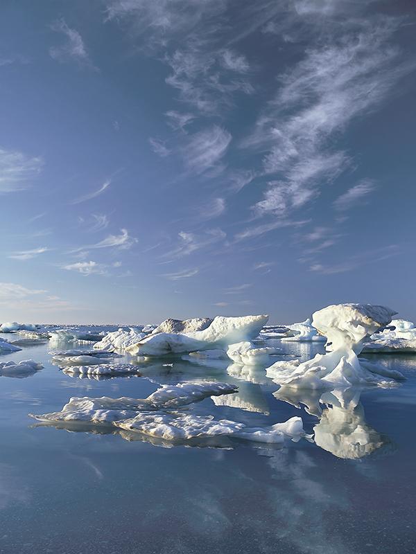 Sea ice along the Beaufort Sea coast (photo Subhankar Banerjee)