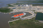 Sabine Pass LNG terminal: US gas for Europe (photo Think Defence)