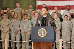 Obama visits Bagram Airfield in Afghanistan (photo DVIDSHUB)