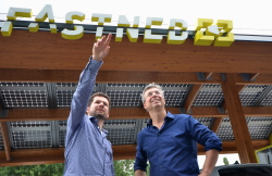 Michiel Langezaal (left) and Bart Lubbers, co-founders of Fastned (photo Roos Korthals Altes)