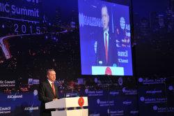 Turkish president Erdogan at Atlantic Council Summit