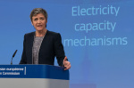Margrethe Vestager presents sector inquiry electricity capacity mechanisms (photo Europe by Satellite)