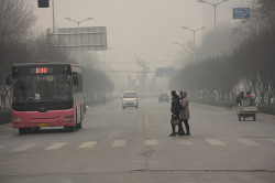 Another polluted day in Anyang City, Henan Province, China. wanderingthebluemarble.com (V.T. Polywoda)