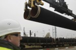 First pipes for NS2 delivered 27 October 2016 to German logistics hub Mukran on the island of Rügen