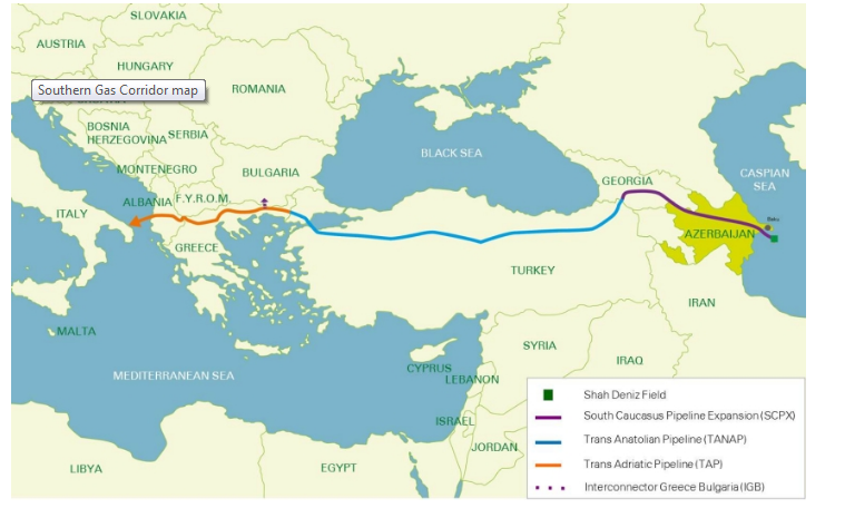 Southern Gas Corridor (source: BP)