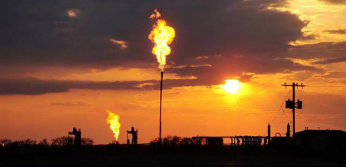 flaring gas in North Dakota