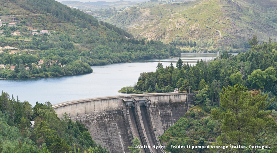 Europe's largest variable speed pumped storage plant ensures grid stability in Portugal. Source: Storage4EU campaign.