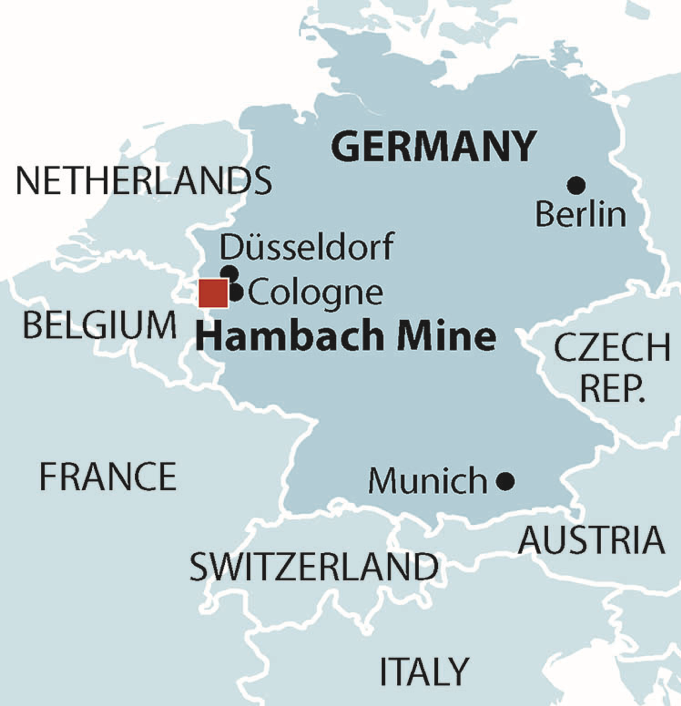 Location of Hambach Mine in Germany. Source: IEEFA.